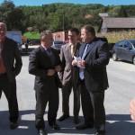 Doček gostiju - g. Ivica Berdik, g. Marko Vlahović i g. Stipe Bučar, zamjenik gradonačelnika grada Jastrebarskog