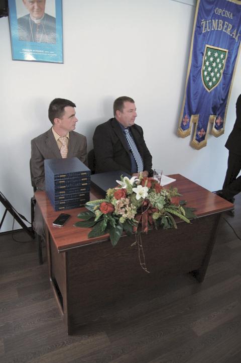 Predsjednik općinskog Vijeća g. Ivica Berdik i zamjenik načelnika općine Žumberak g Marko Vlahović