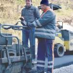 Načelnik općine na lokaciji radova
